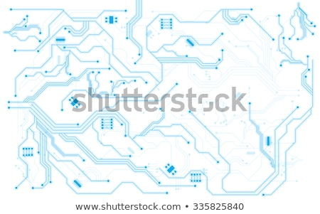clean white tech background with circuit lines stock photo © sarts