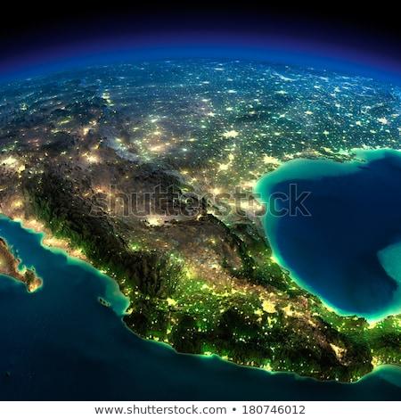 Detallado tierra noche México planeta tierra Foto stock © Antartis