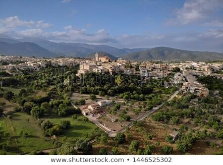 Aéreo foto punto vista imagen ciudad Foto stock © amok