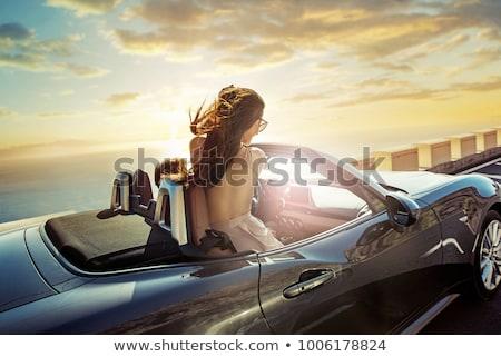 Nice girl enjoying luxury summer vacation Stock photo © Anna_Om
