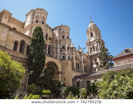Malaga katedral İspanya kilise şehir güney Stok fotoğraf © borisb17