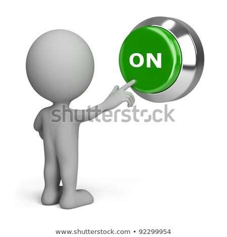 3D Small People - Pressing Green Button Stock photo © DragonEye