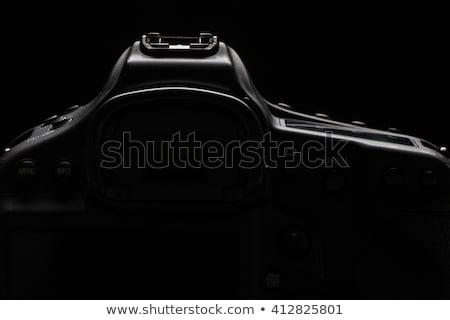 Professional modern DSLR camera low key stock photo/image Stock photo © lightpoet