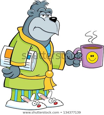 Cartoon grouchy gorilla Stock photo © bennerdesign