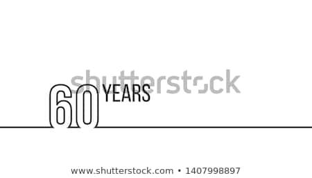 60 anni anniversario compleanno lineare contorno Foto d'archivio © kyryloff