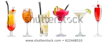 aardbei · alcohol · cocktail · martini · glas · geïsoleerd · witte - stockfoto © furmanphoto