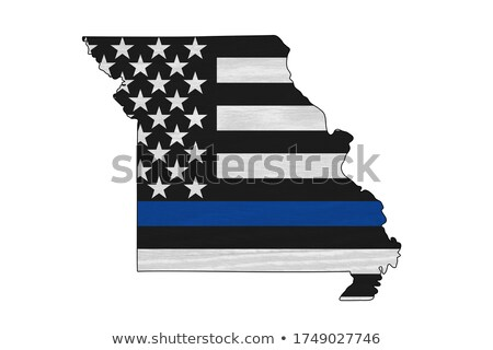 State of Missouri Police Support Flag Illustration Stock photo © enterlinedesign