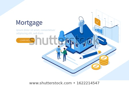 Sale Insurance Rent Mortgage House Isometric Stock photo © -TAlex-