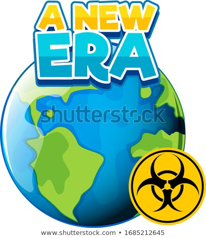 Font design for word new era on eath Stock photo © bluering
