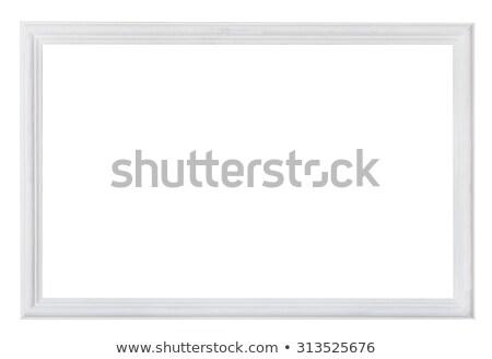 Houten geschilderd fotolijstje geïsoleerd witte hout Stockfoto © olira