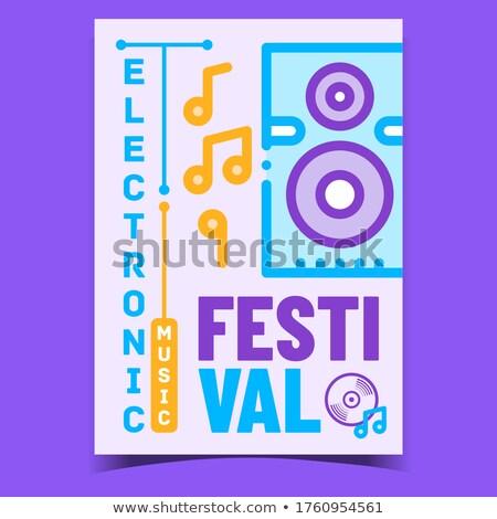 Elettronica festival di musica promo poster vettore audio Foto d'archivio © pikepicture