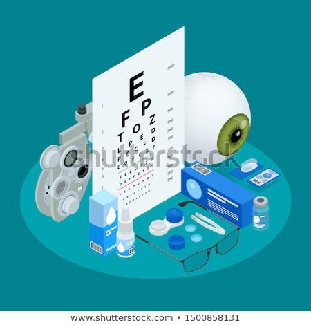 Bril zicht isometrische icon vector teken Stockfoto © pikepicture