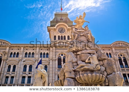 администрация · здании · часы · башни · фонтан - Сток-фото © vladacanon