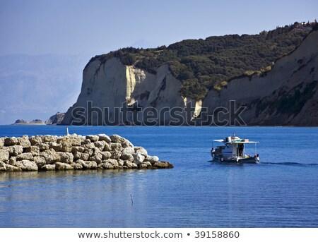Rybak łodzi port Grecja morza Zdjęcia stock © PiXXart