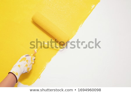 Stock photo: paint roller orange