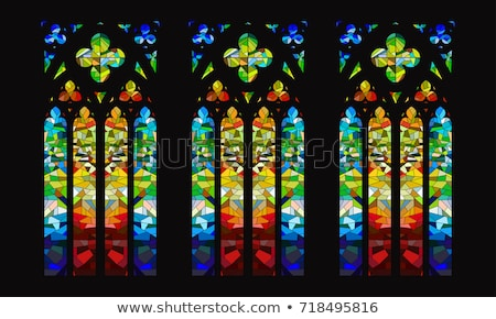 Colourful stained glass window stock photo © borna_mir