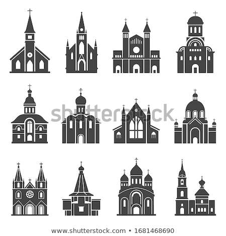 Silhouette Church and Tower Stock photo © Alvinge
