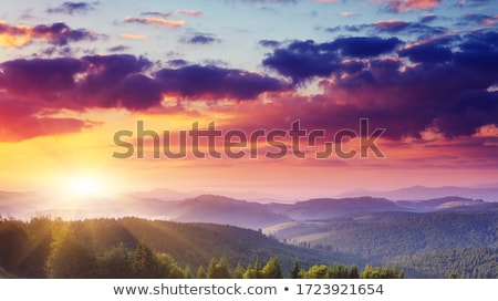 Stock photo: panorama summer mountain