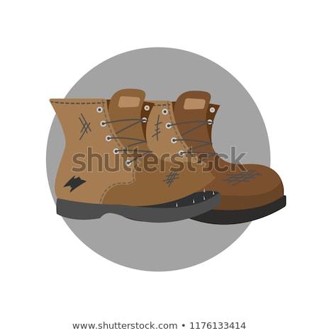 Oude schoenen paar modieus doek mode Stockfoto © rbouwman