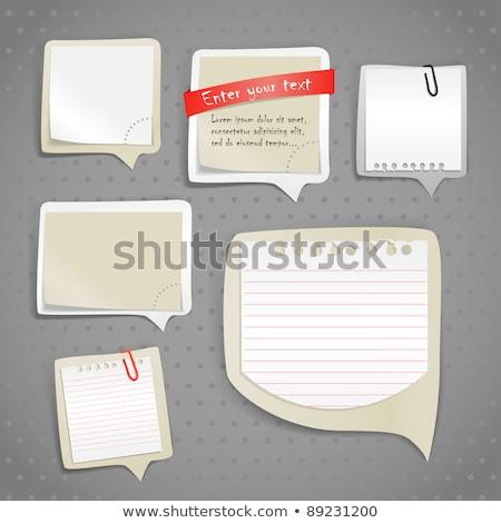 ストックフォト: ステッカー · 紙 · 書く · 孤立した · 白