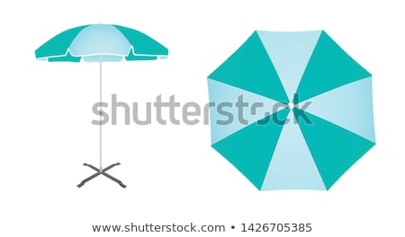 blue sunshade Stock photo © bobhackett
