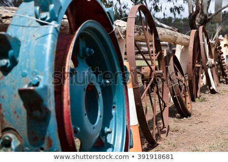 the old tractor discarded Stock photo © njaj