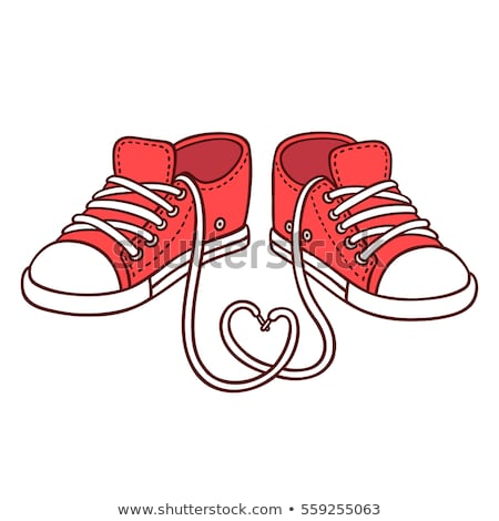 red shoe heart, vector Stock photo © beaubelle
