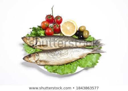 füstölt · falatozó · paradicsom · citrom · halászat · piac - stock fotó © ozaiachin