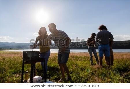 landscape at lakeside stock photo © bbbar