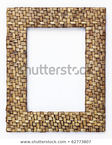 bamboo weave picture frame stock photo © homydesign