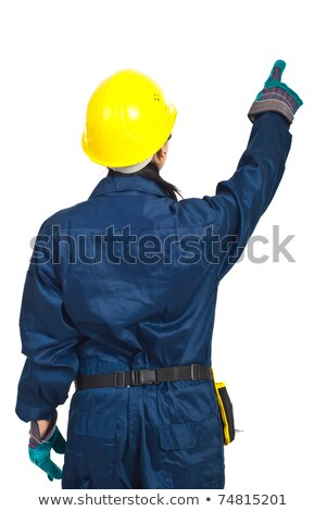 Female Worker Points Back stock photo © lisafx