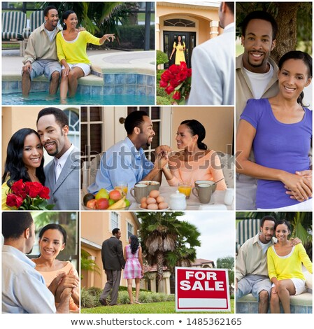 Montage of a romantic couple at breakfast Stock photo © photography33