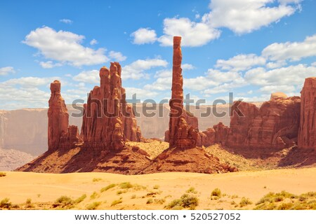 the totem pole monument valley national park utah arizona usa stock photo © phbcz