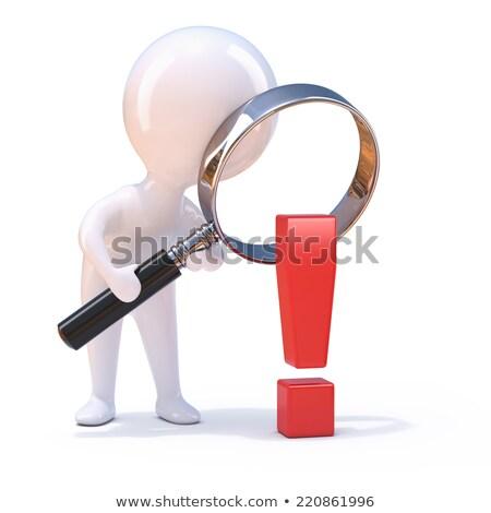 3D pequeño hombre conmocionado pequeño persona Foto stock © karelin721