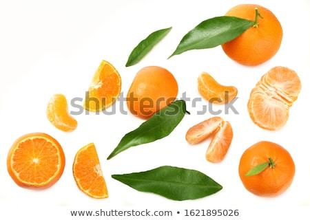 Vers rijp mandarijn- reflectie zoete Stockfoto © lithian
