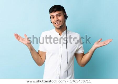 Mannelijke werk kantoor glimlach Blauw marketing Stockfoto © photography33