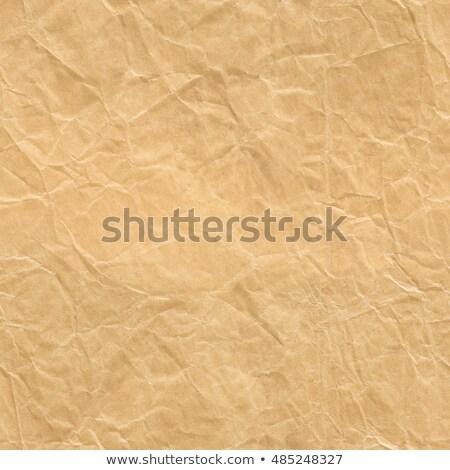 Végtelenített ráncos barna papír közelkép textúra táska Stock fotó © Leonardi