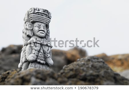 Ancient Pre-Columbian Statue Stock photo © jkraft5