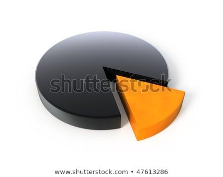Grafiek taart glanzend zwarte onderdelen donkere Stockfoto © Quka