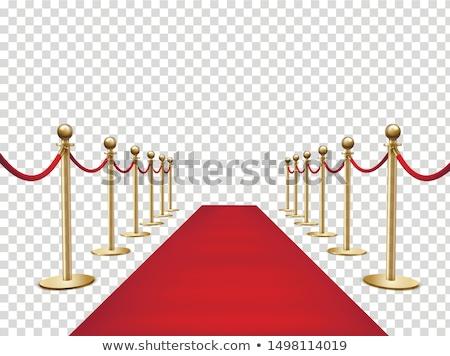Vörös szőnyeg bejárat lépcsőfeljáró vezető kapualj mutat Stock fotó © Lightsource