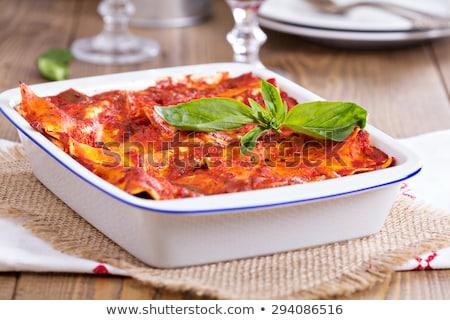 Entree of Baked Lasagna Stock photo © dbvirago