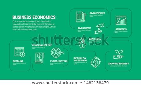 本当の 紙 インフォグラフィック ビジネス テクスチャ ストックフォト © Ansonstock