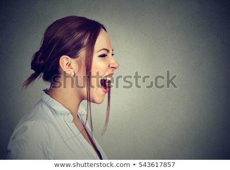 monstro · retrato · belo · mulher · jovem · cara - foto stock © eldadcarin