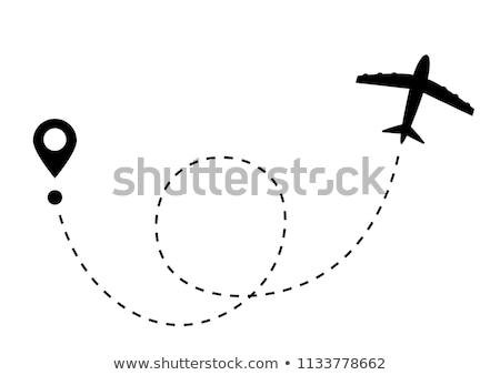 Soyut ikon iş gökyüzü harita ağ Stok fotoğraf © rioillustrator
