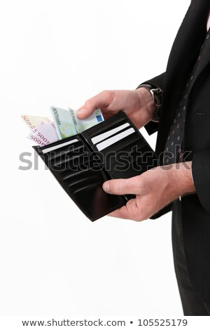 Biznesmen na zewnątrz ceny portfela ręce Zdjęcia stock © photography33