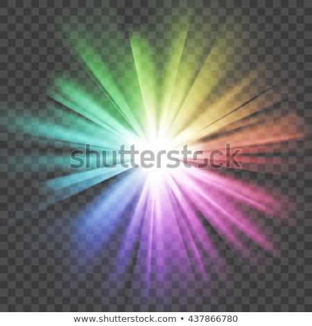 star with rainbow light rays Stock photo © marinini