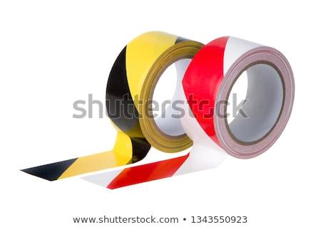 Zsemle citromsárga fekete vigyázat szalag felirat Stock fotó © Zerbor