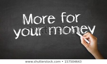 Więcej ceny kredy ilustracja osoby rysunek Zdjęcia stock © kbuntu