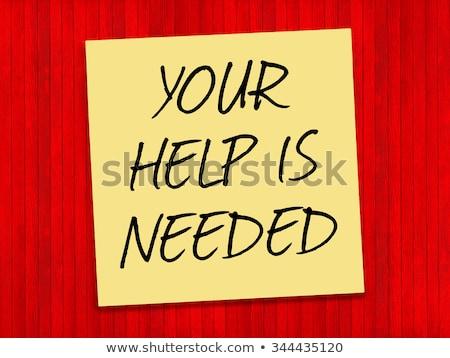 segítség · emlékeztető · öntapadó · jegyzet · parafa · tábla · iroda · papír - stock fotó © tashatuvango