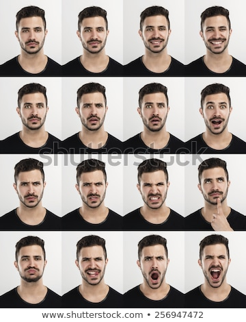angry man with expressive face Stock photo © stepstock